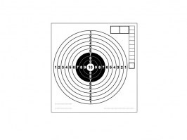 Air guns paper target 140x150mm - 100pcs [-]