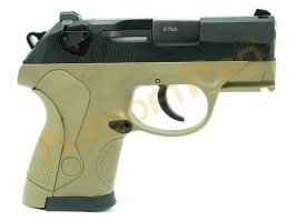 Airsoft pistol Compact Bulldog - 2x magazize, TAN, blowback [WE]