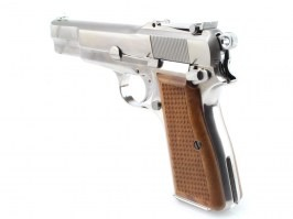 Airsoft pistol Hi-Power M1935 - full metal, blowback, silver [WE]