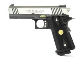 Airsoft pistol Hi Capa 4.3 OPS Special Edition - GBB, full metal, silver [WE]