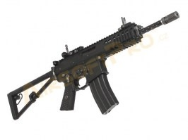 "Airsoft rifle AWSS KAC PDW 10"" GBB, blowback - black, 2x magazine [WE]"