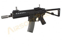 "Airsoft rifle AWSS KAC PDW 8"" GBB, blowback, - black, 2x magazine [WE]"