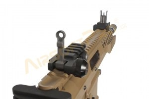 "Airsoft rifle AWSS KAC PDW 10"" GBB, blowback - TAN, 2x magazine [WE]"