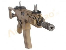"Airsoft rifle AWSS KAC PDW 8"" GBB, blowback, - TAN, 2x magazine [WE]"