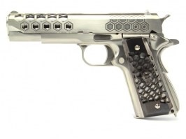M1911 Hex Cut - GBB, full metal, Gen.2 - silver