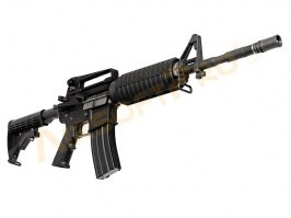 Airsoft rifle M4A1 GBB - full metal, blowback - black [WE]