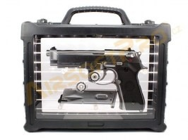 M9A1 Gen2, nickel, fullmetal, AUTO blowback, LED BOX