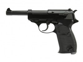 Airsoft pistol P38 - metal, gas blowback - black [WE]