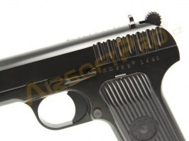 Airsoft pistol TT33, black - Metal, blowback [WE]