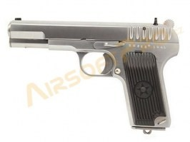 Airsoft pistol TT33, silver - Metal, blowback [WE]