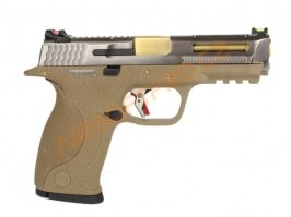 Airsoft pistol BB FORCE T7 B SV Stealth Slide / GD Barrel / TAN Frame