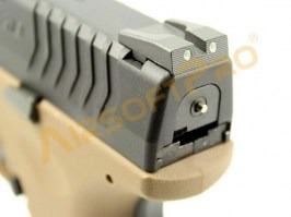 XDM 3.8 Compact TAN - Metal receiver, blowback, 2x mags [WE]