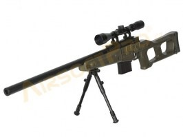 Airsoft sniper MB4408D + scope and bipod - olive [Well]