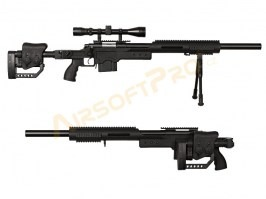 Airsoft sniper MB4410D + scope and bipod - black [Well]