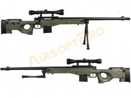 Airsoft sniper L96 AWS MB4402D (UPGRADE version) + scope and bipod - OD [Well]