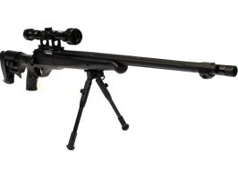 Airsoft sniper MB11D black + scope + bipod [Well]