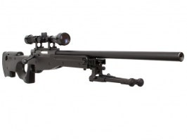 Airsoft sniper L96 (MB01C UPGRADE) + scope + bipod - black [Well]