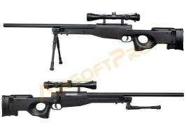 L96 Sniper (MB01C UPGRADE) + scope + bipod - black - Returned by customer