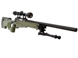 Airsoft sniper L96 OD (MB01C UPGRADE) + scope and bipod - OD [Well]