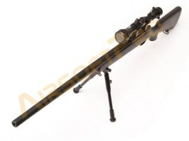 Airsoft sniper MB03D + scope and bipod, black [Well]