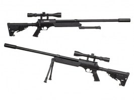 Airsoft sniper APS SR-2 LRV (MB13D) + bipod + scope + silencer [Well]