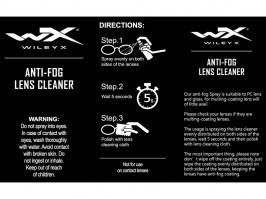 Anti-fog lens cleaner (25ml bottle) with cleaning cloth