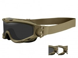 SPEAR goggle TAN - clear, smoke
