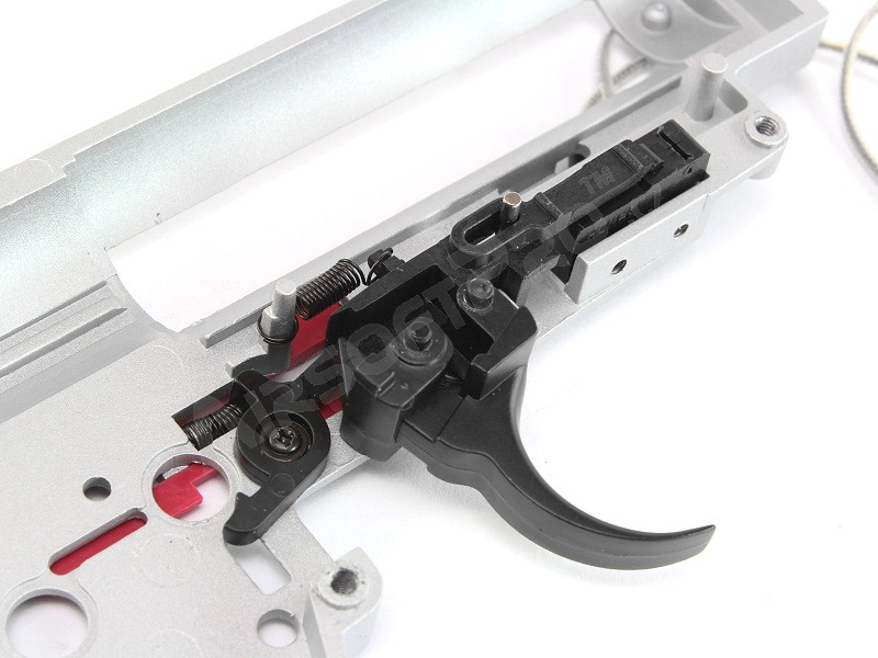 AK QD spring gearbox frame with microswitch + many parts Front [Shooter]