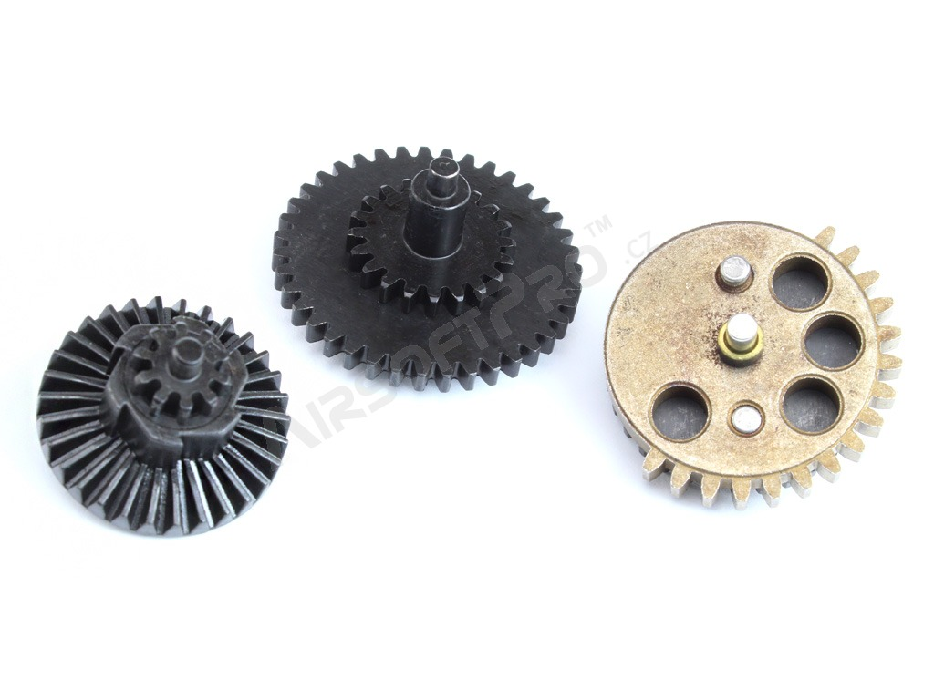 CNC reinforced gear set 18:1 - New type with integrated axis [Shooter]