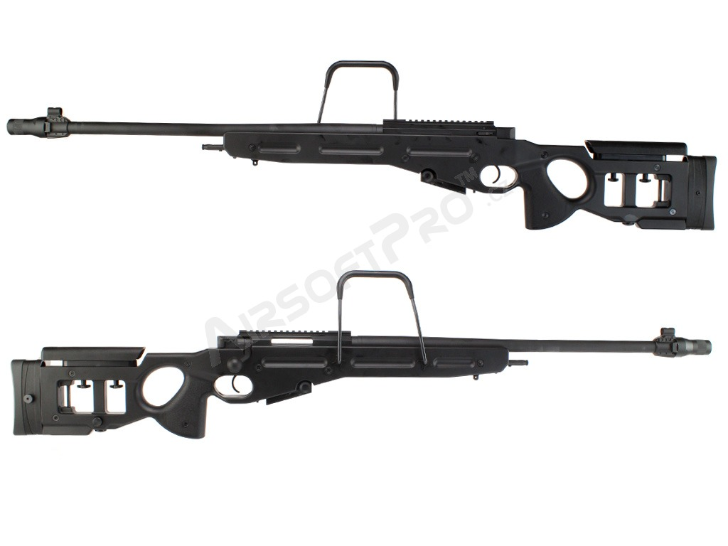 Airsoft sniper SV-98 (SW-025(BK)) spring action rifle, full metal - black [Snow Wolf]