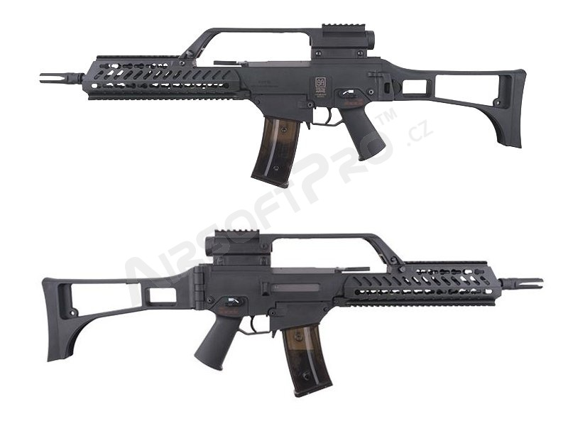Airsoft rifle SA-G10 EBB KeyMod replica with the scope, black [Specna Arms]