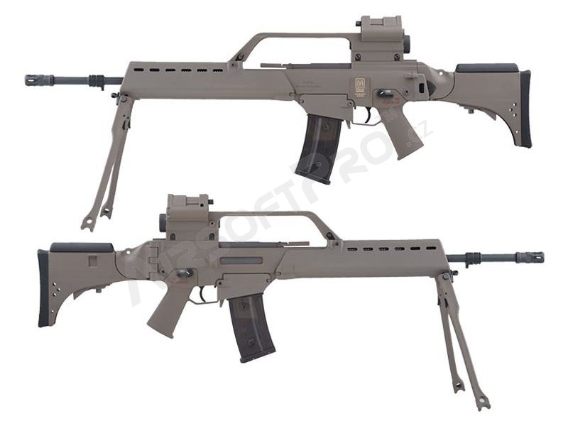 Model 36 Airsoft Rifle Sa G13v Ebb Replica With Scope Red Dot And Bipod Tan Airsoftpro Cz