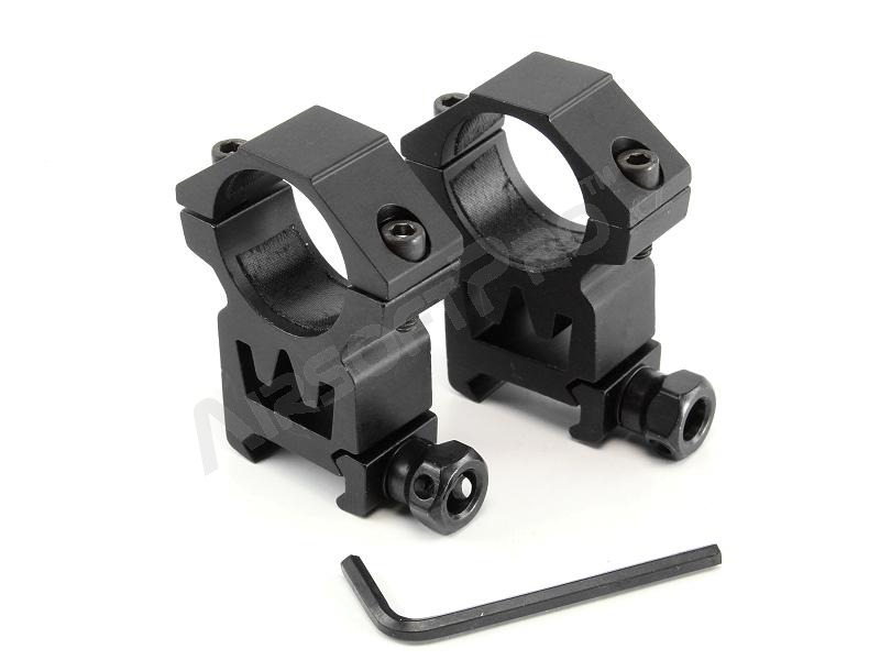 Two-part 25mm optics mount for RIS rail (high) [Theta Optics]