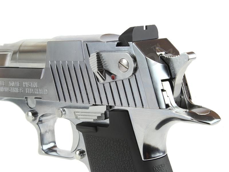 Airsoftová pistole Desert Eagle 50AE Chrome Stainless, plyn blowback (GBB) [Tokyo Marui]
