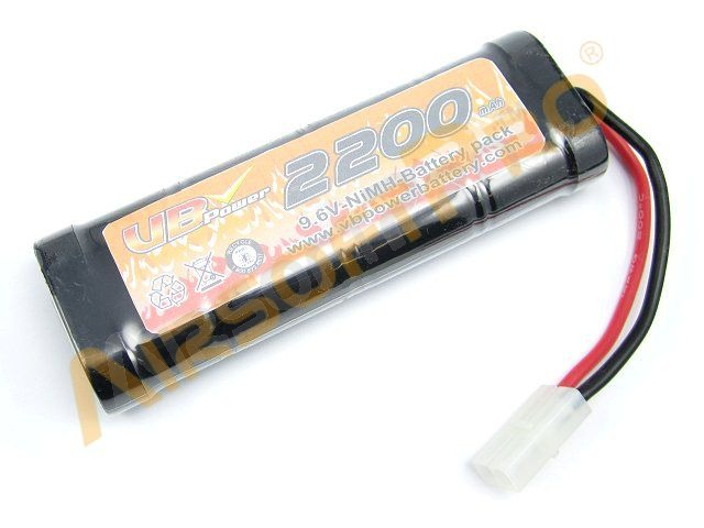 NiMH battery 9,6V 2200mAh - Medium block [VB Power]