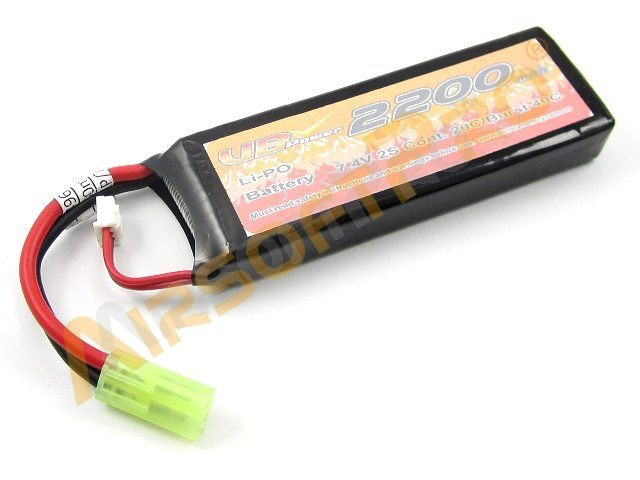 Akumulátor Li-Po 7,4V 2200mAh 20C - Mini Block [VB Power]
