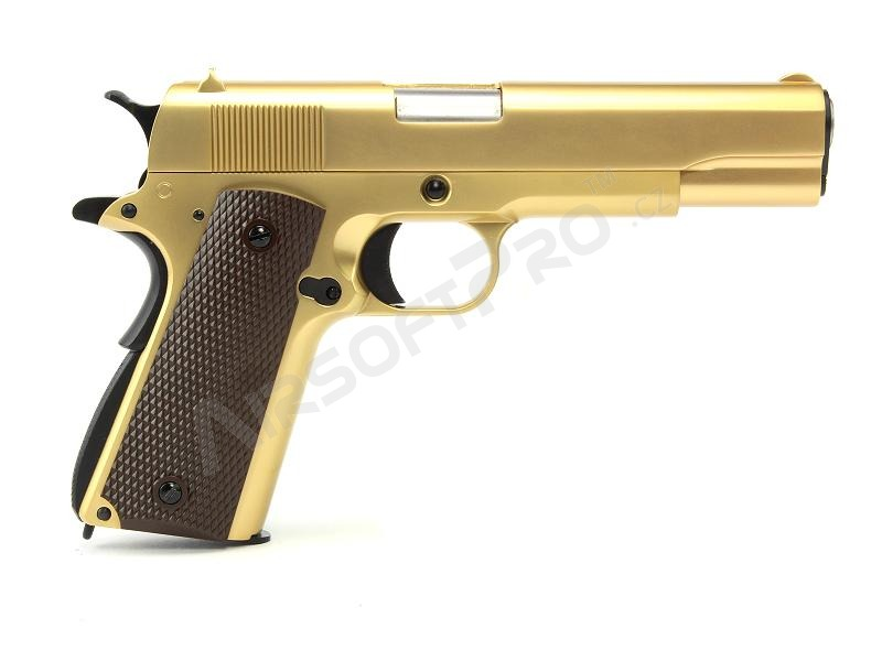 1911 Hicapa Meu M1911 A1 Gas Blowback Full Metal 24k Gold