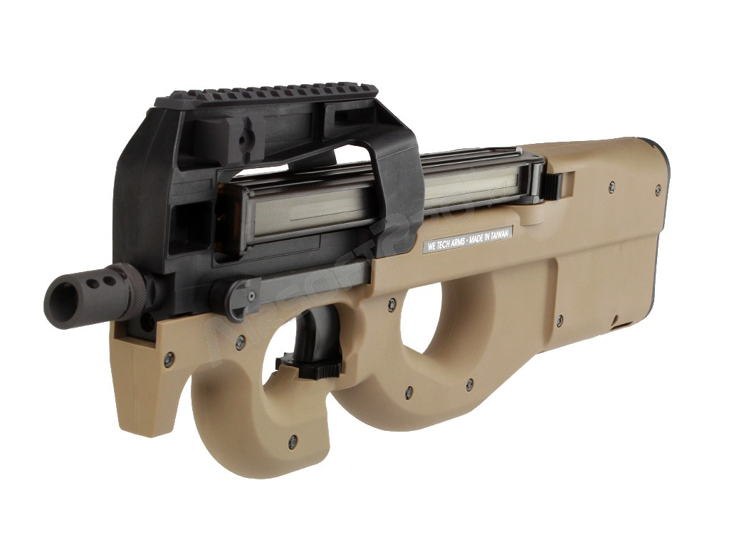 Airsoftový samopal TA-2015 P90 , plyn, blowback - TAN [WE]