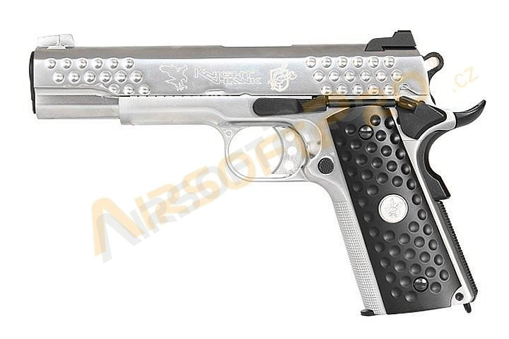 Airsoftová pistole KAC 1911 Knight Hawk Silver- celokov, blowback [WE]