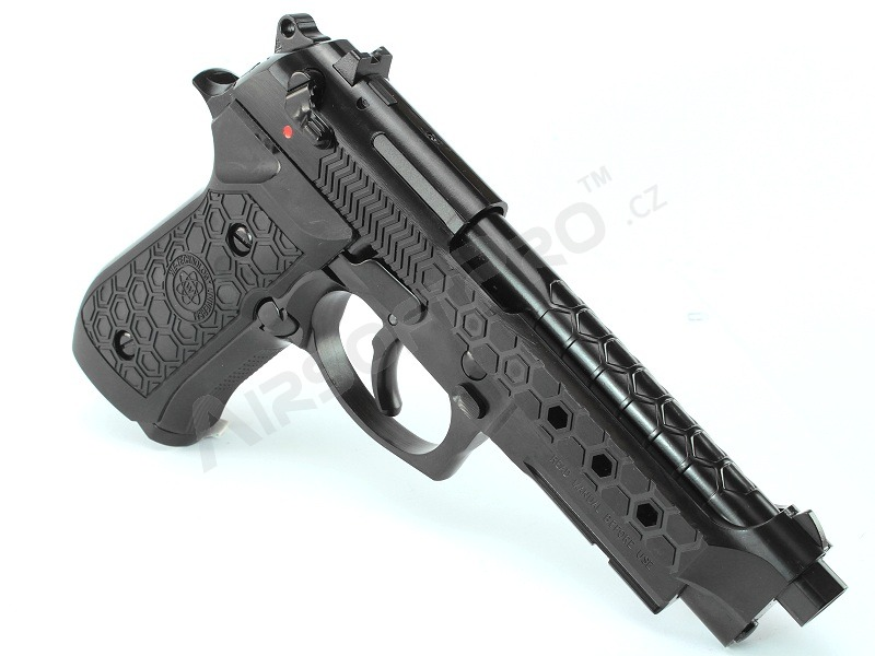 Airsoft pistol M92 Hex Cut - GBB, full metal, Gen.2 - black [WE]