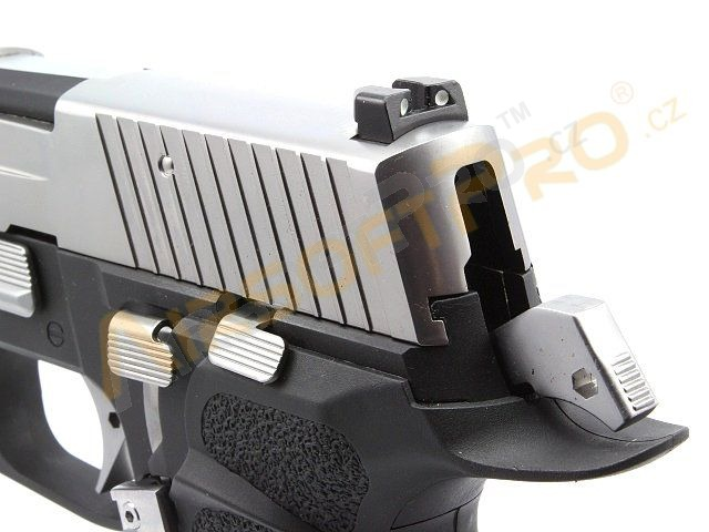 Airsoftová pistole P-VIRUS F226 , celokov, blowback, LED BOX [WE]