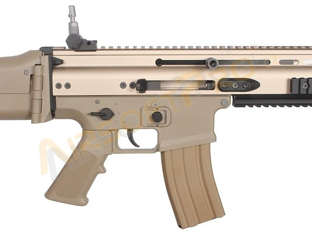 Airsoftová zbraň SCAR - L GBB - blowback - TAN [WE]