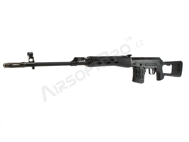 Airsoft sniper SVD GBB (ACE VD) - celokov, blowback, černý [WE]