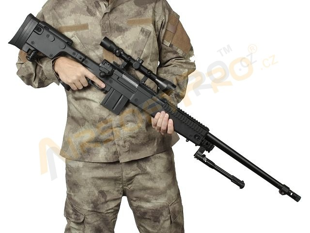 Airsoft sniper MB4407D + scope and bipod - black [Well]