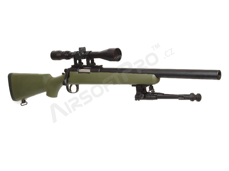 Airsoft sniper MB02D OD + scope + bipod [Well]