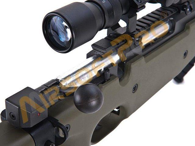 Sniper rifles : L96D AW  338 Sniper + scope + bipod (MB08D OD)